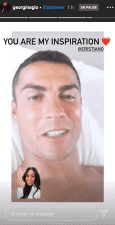 Georgina Rodríguez contrainte de voir Cristiano Ronaldo en Facetime 13102020-