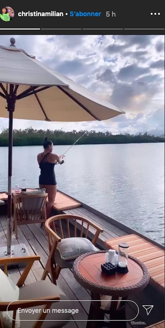 Christina Milian passe une journée à la pêche avec sa famille !