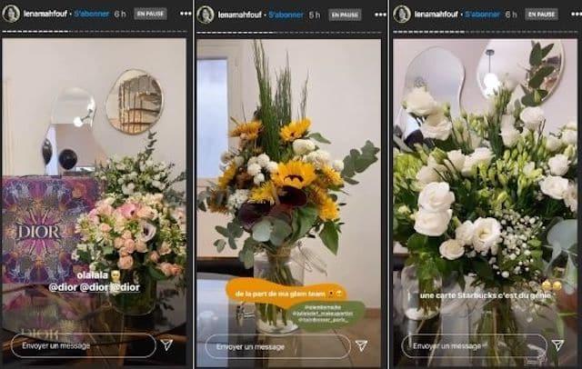 Léna Situations couverte de fleurs pour son 23ème anniversaire !