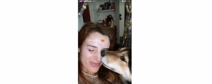 Bella Thorne s'affiche au naturel avec son chien sur Instagram !