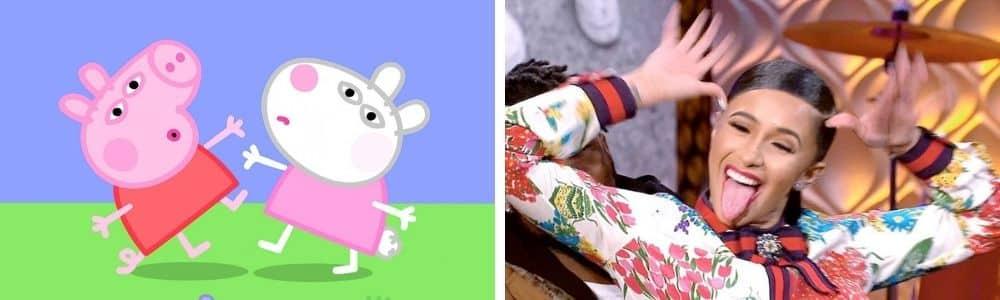 Cardi B s'énerve contre le célèbre dessin animé Peppa Pig sur Twitter !