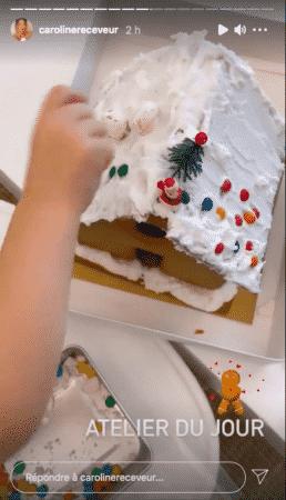 Caroline Receveur organise un atelier pâtisserie avec son petit Marlon 21122020-
