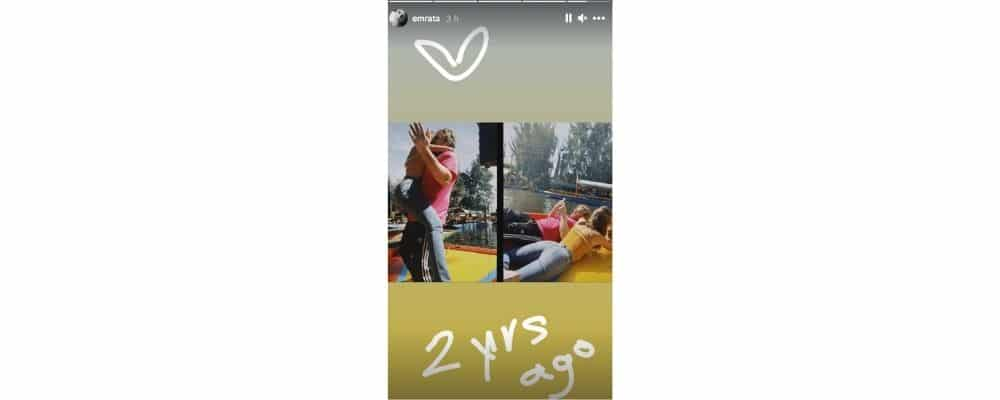 Emily Ratajkowski en mode kangourou avec son mari Sebastian sur Instagram !