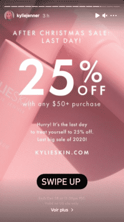 Kylie Jenner organise des soldes de Noël pour sa marque Kylie Skin 28122020-