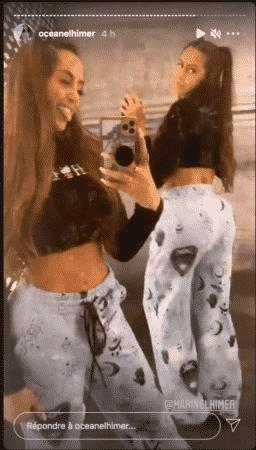 Océane El Himer sexy avec des couettes avec sa sœur Marine El Himer 08122020--