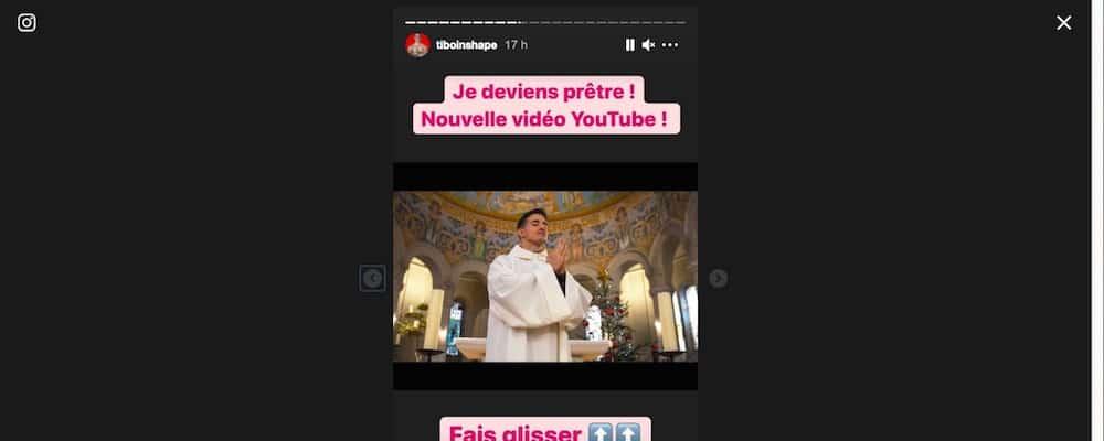 Tibo InShape s'affiche en prêtre et choque les internautes !