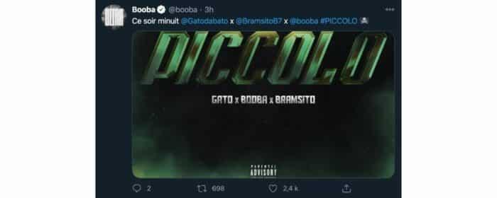 Booba annonce la sortie imminente d'un nouveau feat sur Twitter !