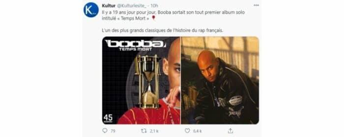 Booba célèbre les 19 ans de son tout premier album «Temps Mort» !