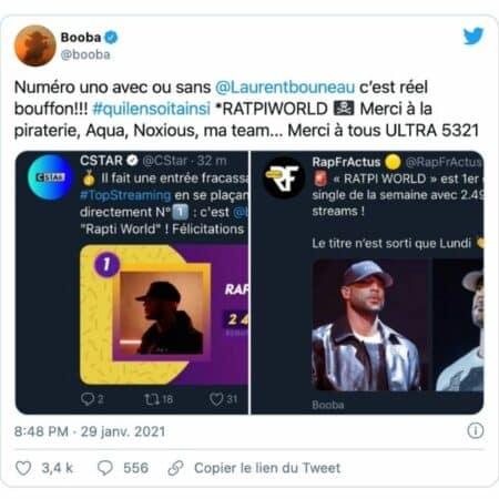 """Booba connaît un énorme succès avec son titre """"Ratpi World"""" !"""