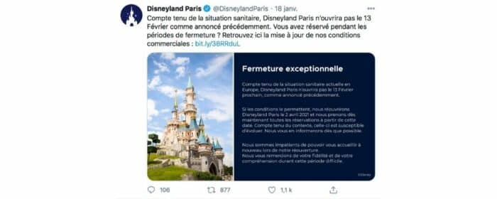 Disneyland Paris repousse encore une fois sa réouverture ! parc