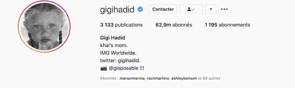 Gigi Hadid dévoile le prénom de sa fille pour ses 4 mois de naissance 1300