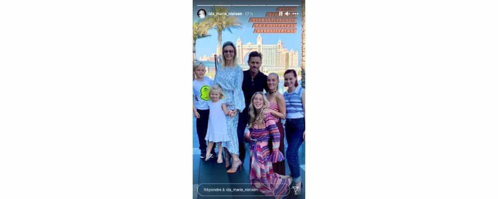 Ida Marie Nielsen (Vikings) heureuse d'être à Dubaï avec sa famille !