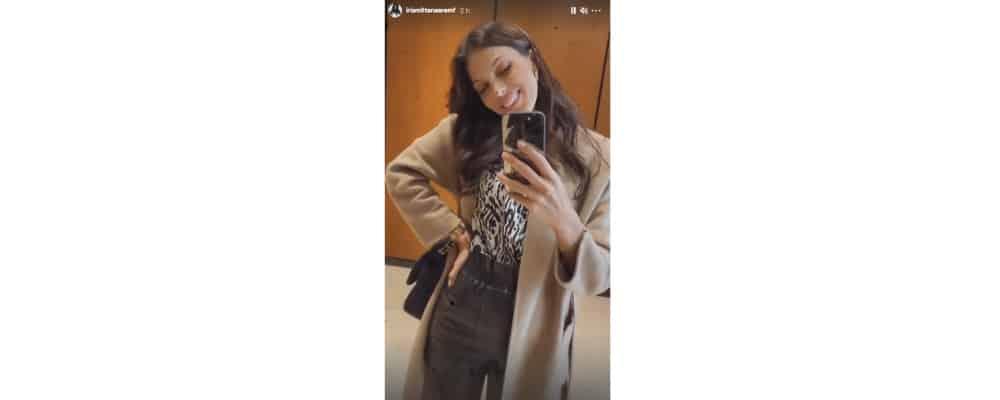 Iris Mittenaere radieuse pour défiler en short en cuir sur Instagram !