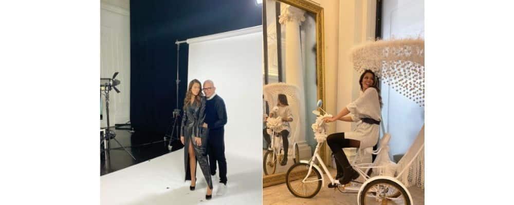 Iris Mittenaere sublime pour poser avec Jean-Paul Gaultier !