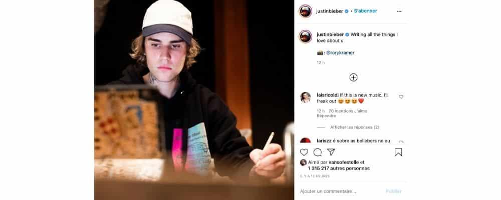 Justin Bieber déjà de retour en studio pour un prochain album 1400