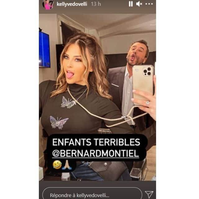 Kelly Vedovelli très complice avec Bernard Montiel sur Instagram !
