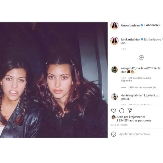 Kim Kardashian dévoile une ancienne photo et elle en a honte !