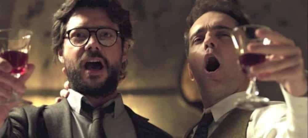 La Casa de Papel: Pedro Alonso et Álvaro Morte proches sur le tournage !