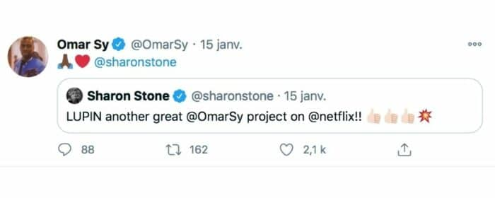 Lupin (Netflix): Sharon Stone totalement fan de la série avec Omar Sy !