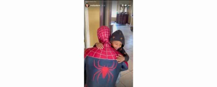 M Pokora transformé en Spiderman pour les 4 ans de son neveu Layvin !