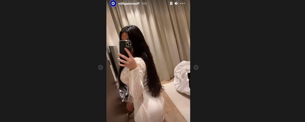 Milla Jasmine dévoile ses fesses rebondies en mini-robe très sexy !