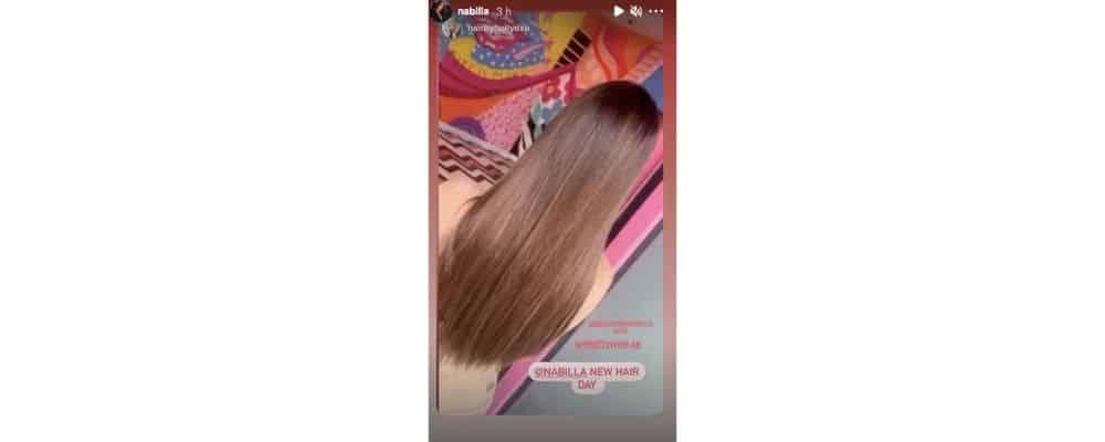 Nabilla s'affiche super fan de sa nouvelle chevelure sur Instagram !