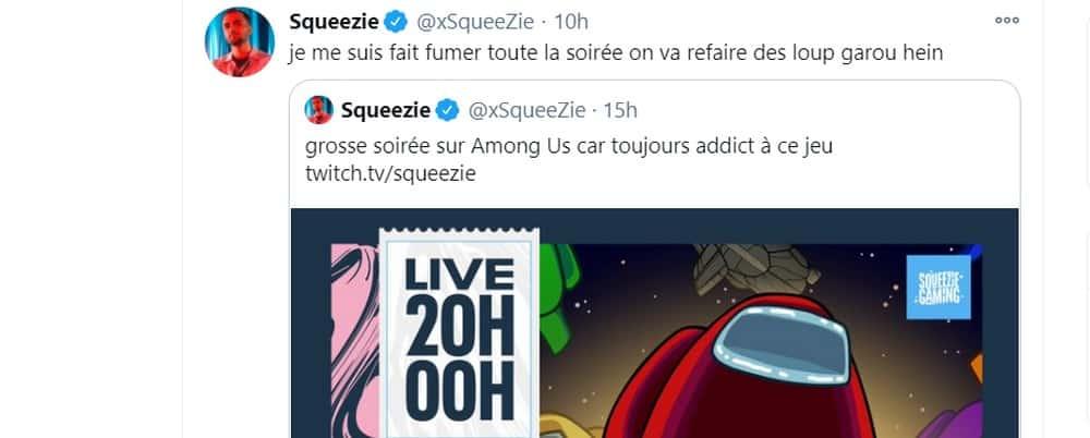 Squeezie ridiculisé par ses abonnés sur le jeu vidéo Among Us !