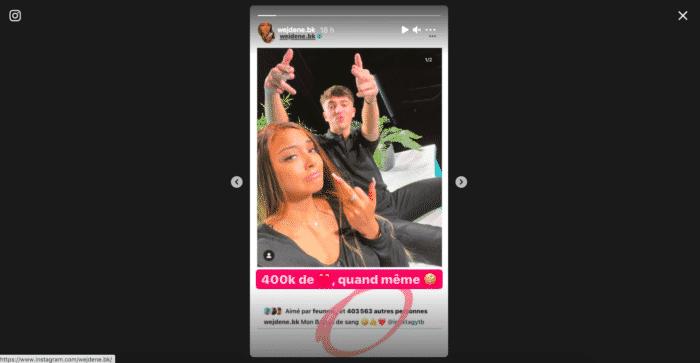 Wejdene connaît un gros carton avec sa dernière photo Instagram !