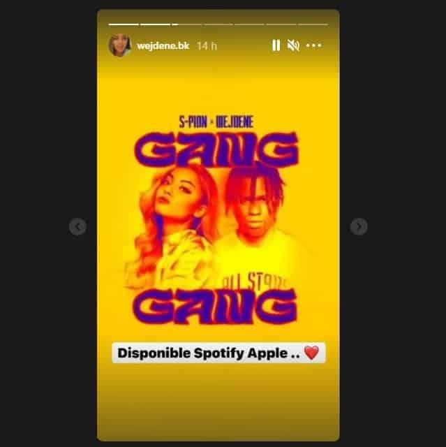 """Wejdene: son nouveau single """"Gang Gang"""" disponible sur Spotify !"""