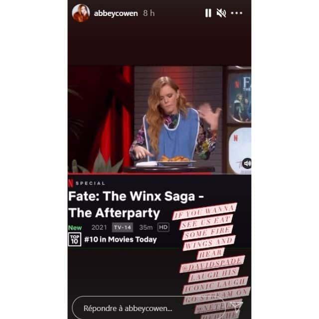 Abigail Cowen (Winx) enflamme l'afterparty pour la série Netflix !