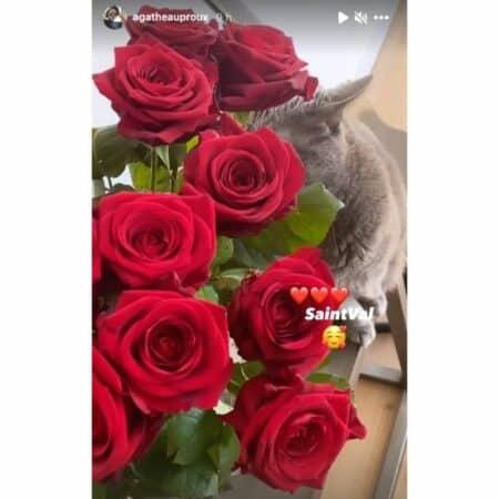 Agathe Auproux heureuse et amoureuse pour la Saint-Valentin !