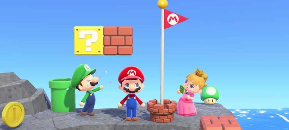 Animal Crossing New Horizons: Super Mario Bros débarque dans le jeu !