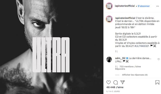 Booba annonce un feat avec Maes dans «Ultra» et enflamme Instagram !