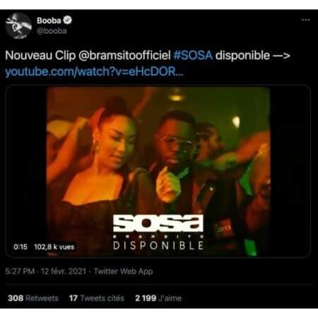 Booba déjà ultra fan du clip «Sosa» le nouveau son de Bramsito !Booba déjà ultra fan du clip «Sosa» le nouveau son de Bramsito !
