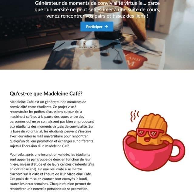 Étudiants: la plateforme Madeleine Café pour aider les jeunes en détresse !