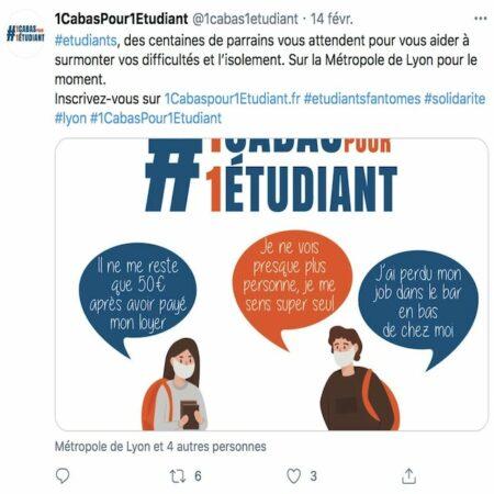 Etudiants: la plateforme lyonnaise «1 cabas pour un étudiant» cartonne !