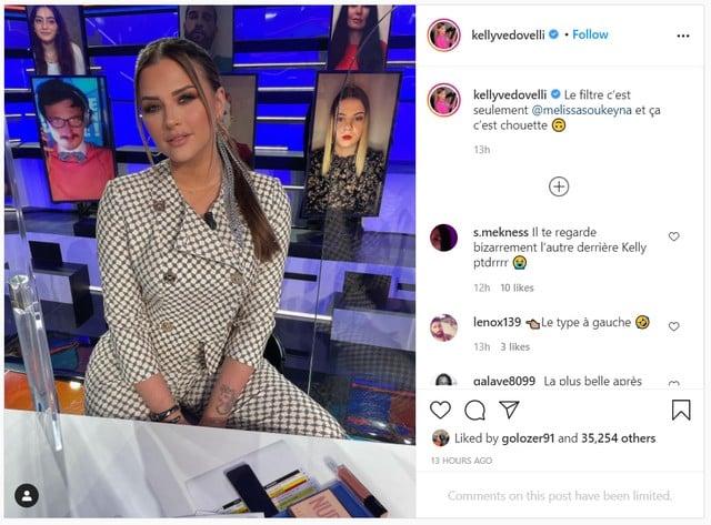 Kelly Vedovelli très classe dans une tenue à carreaux sur Instagram !