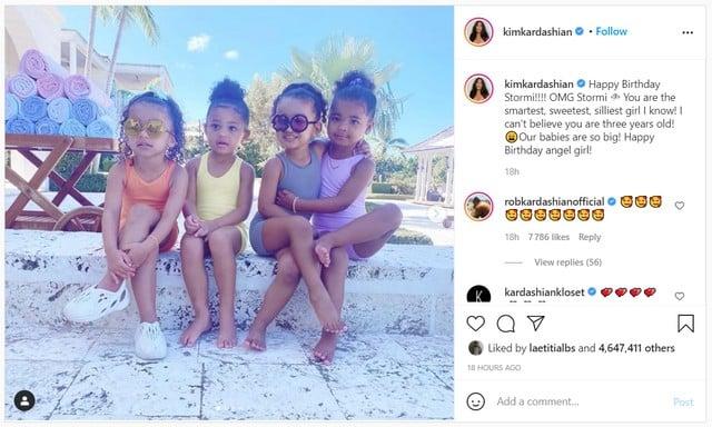 Kim Kardashian: cette photo adorable de Chicago et ses cousines !