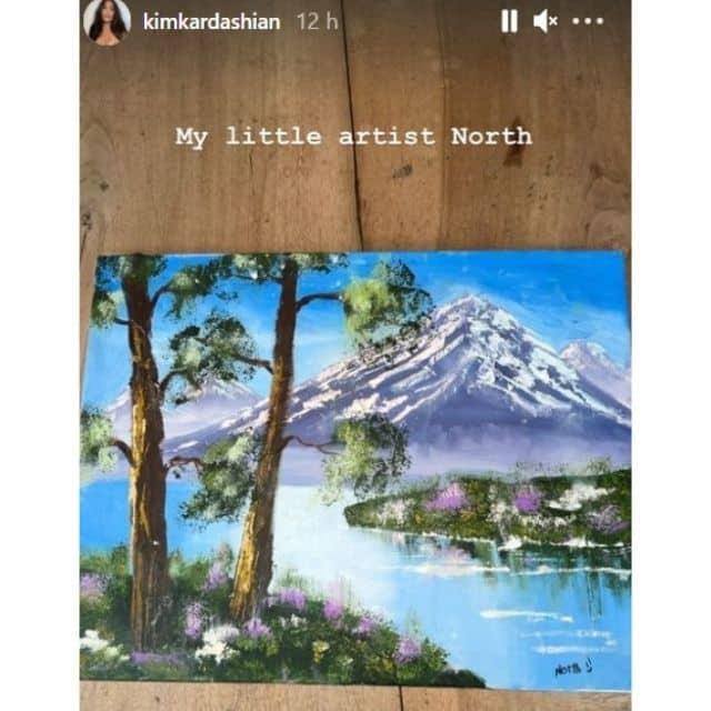 Kim Kardashian: sa fille North est déjà une vraie artiste !
