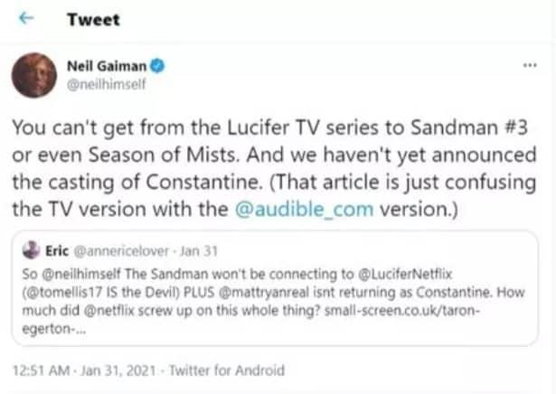 Lucifer: bientôt un crossover avec The Sandman sur Netflix ?