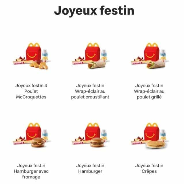 McDonald's: le menu Happy Meal ne s'appelle pas pareil au Canada !