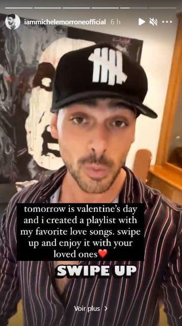 Michele Morrone fait une playlist spéciale Saint-Valentin pour ses fans !