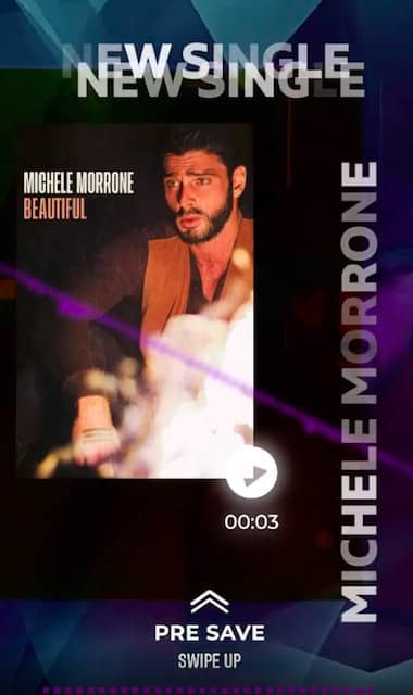 "Michele Morrone tease la sortie de son nouveau single ""Beautiful"" !"