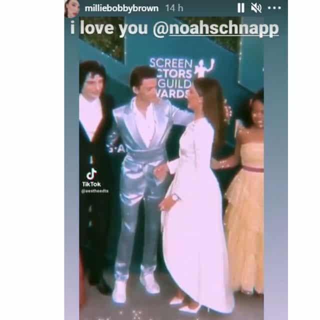 Millie Bobby Brown fait une belle déclaration à sa co-star Noah Schnapp !