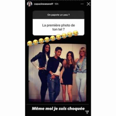 Nabilla Capucine Anav publie une photo dossier d'elle sur Instagram