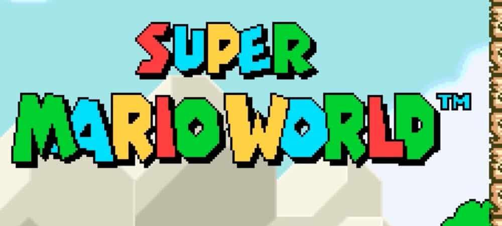 Nintendo des fans restaurent la bande-son de Super Mario World1000