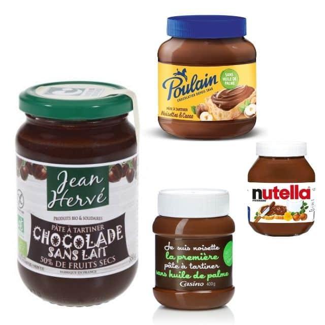 Nutella est 4ème dans le classement des meilleures pâtes à tartiner !