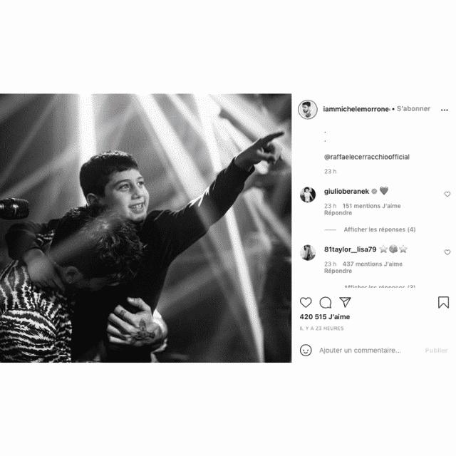 Michele Morrone partage une rare photo avec son fils sur Instagram !