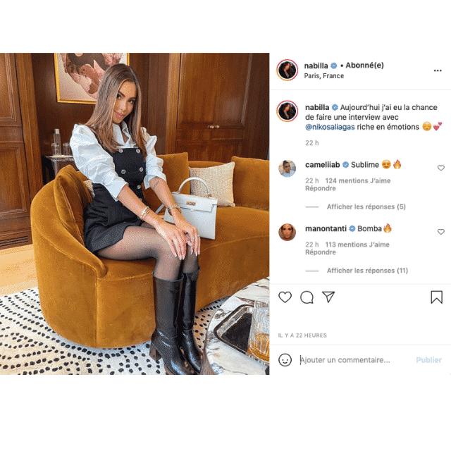Nabilla sexy en mini-robe et en bottes que les influenceuses adorent !