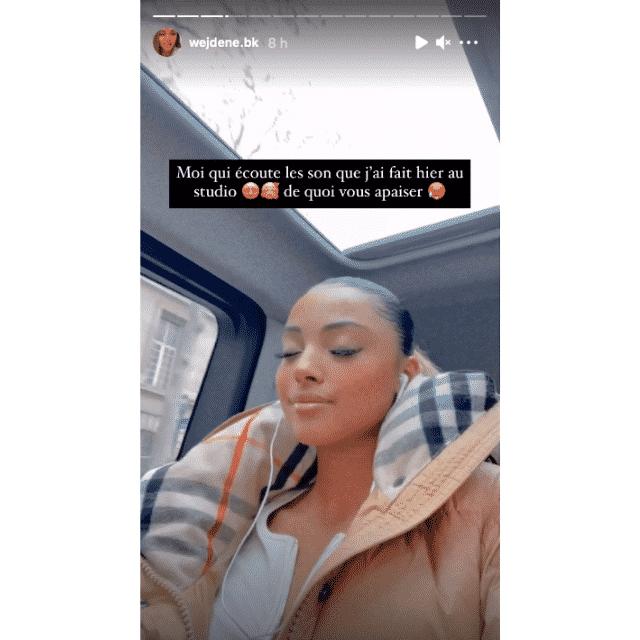 Wejdene tease le mood de sa prochaine chanson sur Instagram !